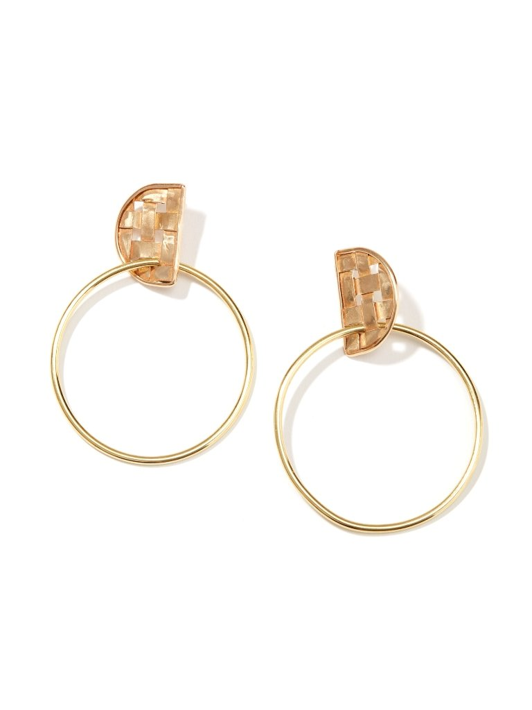 Crescent Link Hoop Earrings