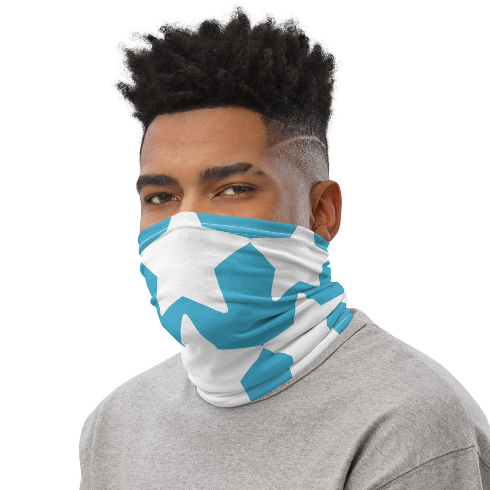 White blue Neck Gaiter