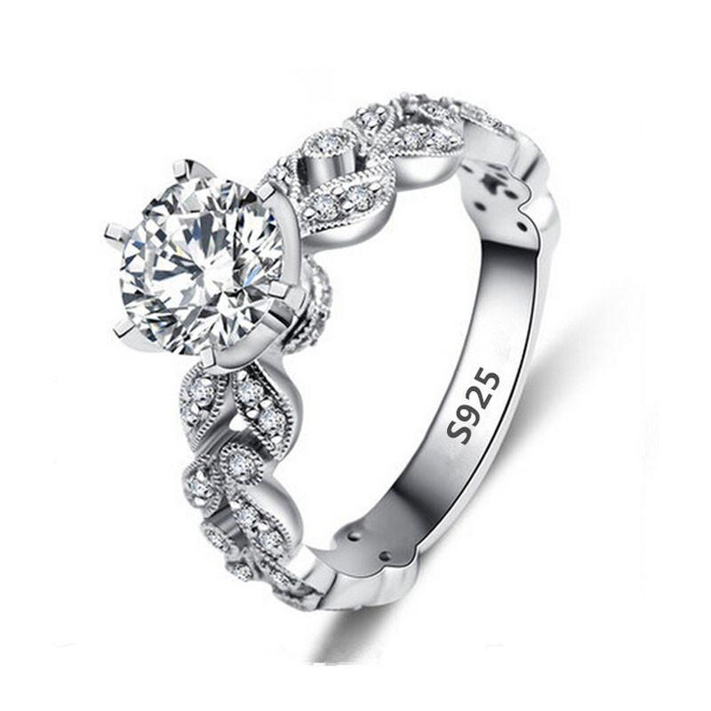 1.5CT AAA CZ Crystal Leaves Ring
