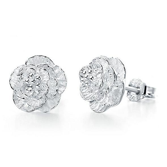 925 Sterling Silver Blossom Stud Earrings