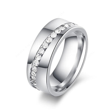 Spiral CZ Fashion Ring