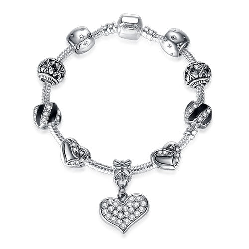 Unique Crystal Charm Bracelet