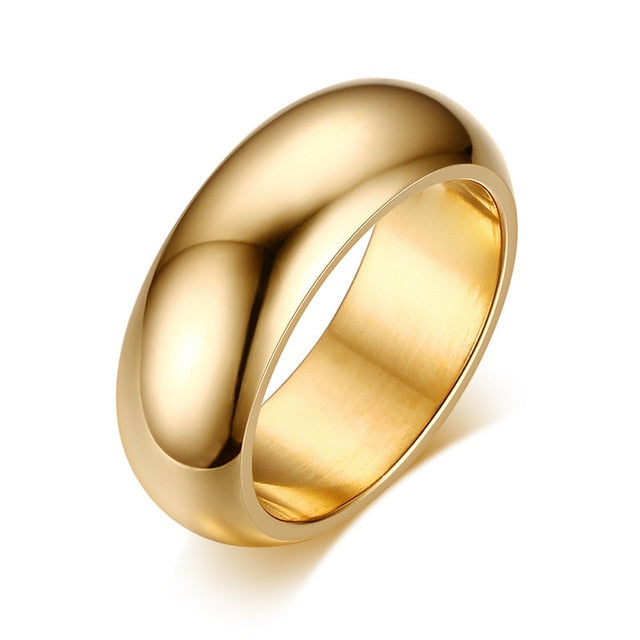 Classic Stainless Steel Wedding Band