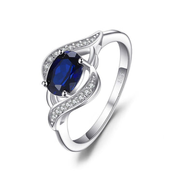 925 Sterling 1.1ct Sapphire Statement Ring