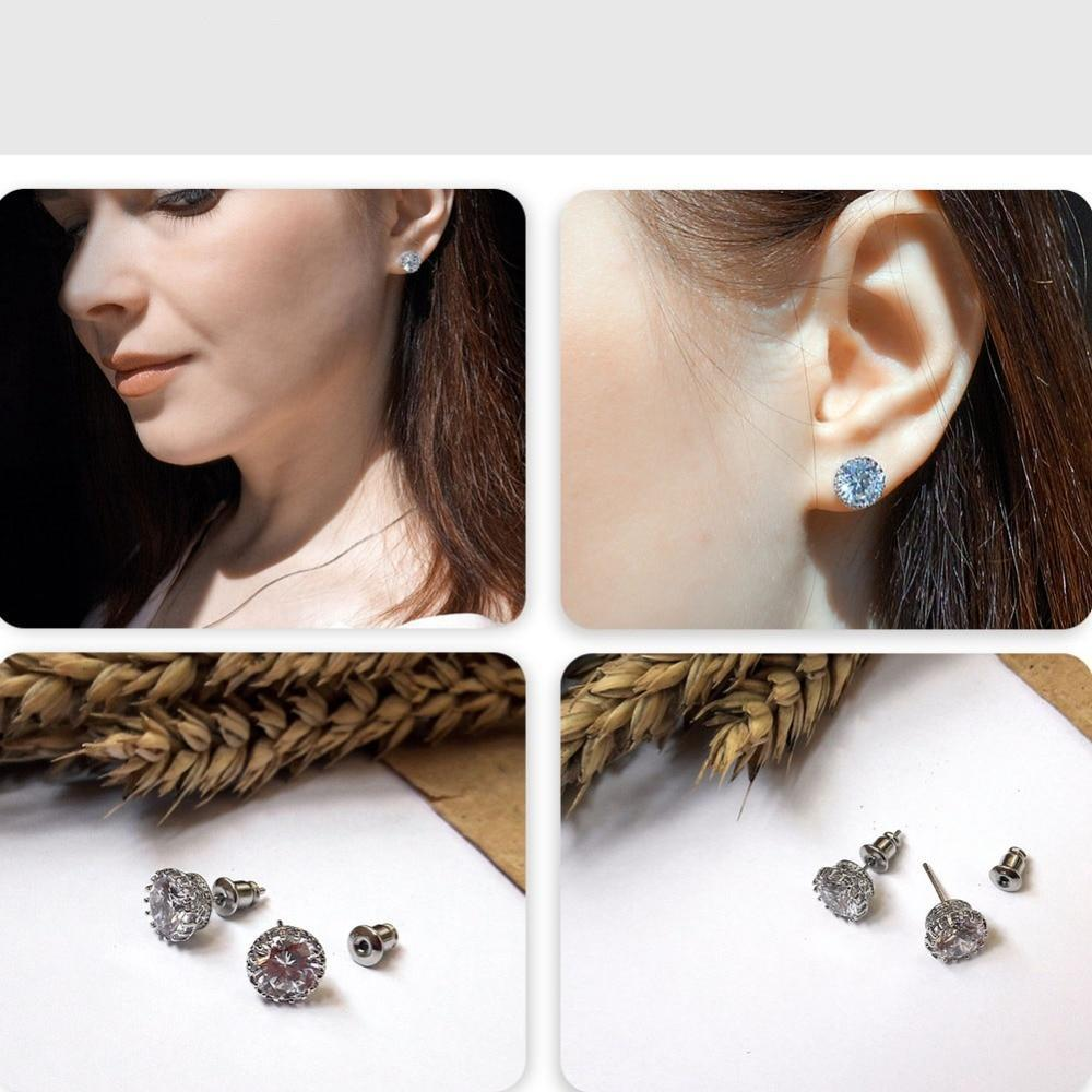 8MM 2CT CZ Stud Earrings