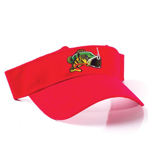 Embroidered fishing visor with logo