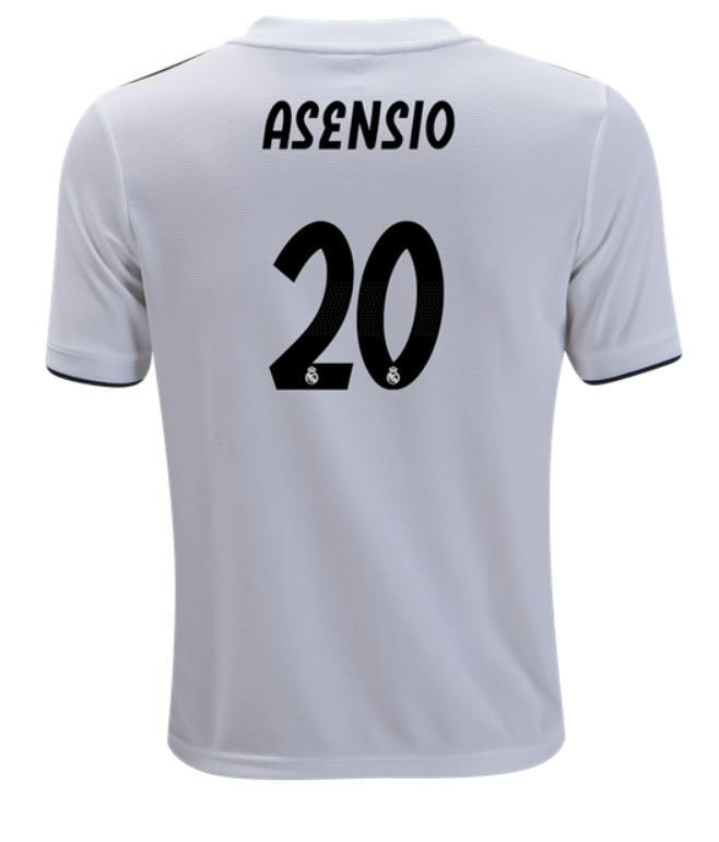 size 40 7b89b 0f454 Real Madrid Marco Asensio Youth Home Jersey 18/19