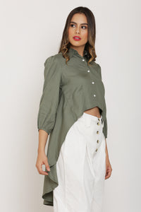 Fern green High-Low Top