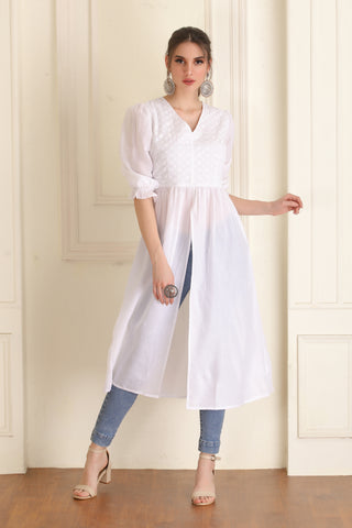 White Embroidered Kurta