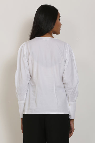White Overlap Shirt