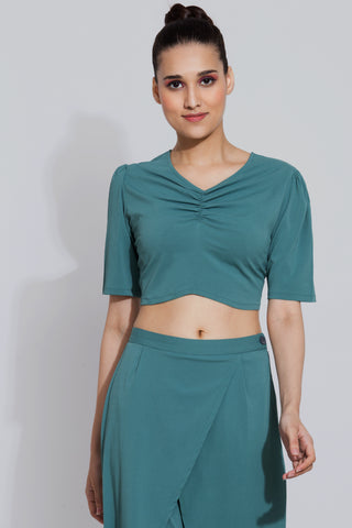 Fern Ruched Crop Top