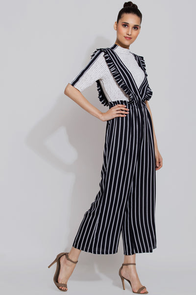 Striped Jumpsuit Pant and Top Set - sewandyou.com