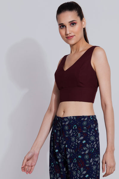 Wine Crop Top For Girls- sewandyou.com
