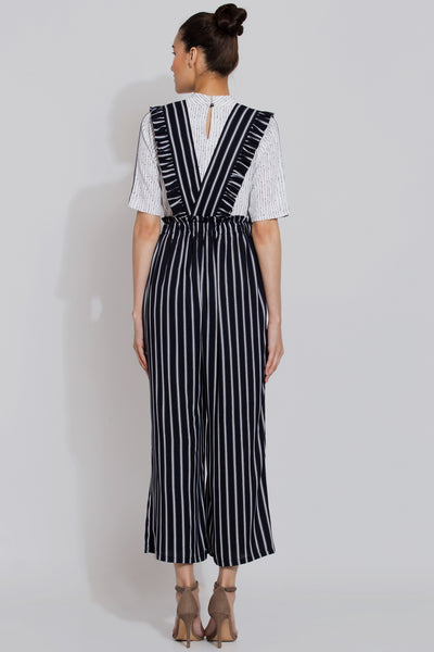 Dense Striped Jumpsuit Pant and Top Set
