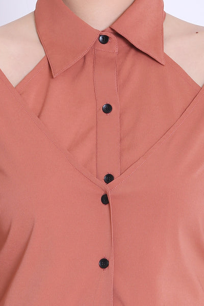 Rose Pink Double Buttoned Shirt