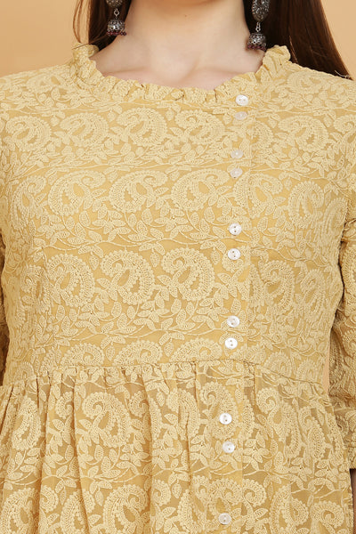 Honey Chikankari Kurta and Garara Set