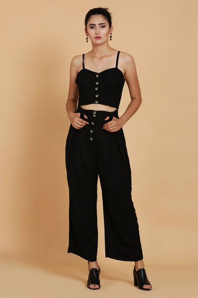 Black Bustier Crop Top For Girls - sewandyou.com