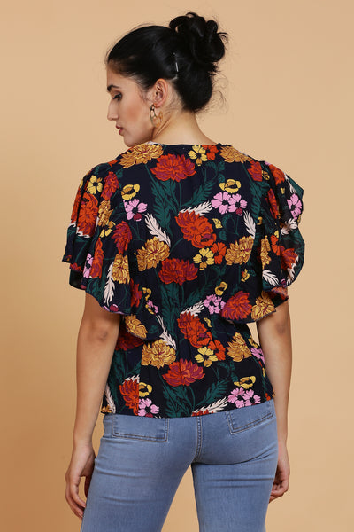 Blossom Floral Printed Cotton Top For Women- sewandyou.com