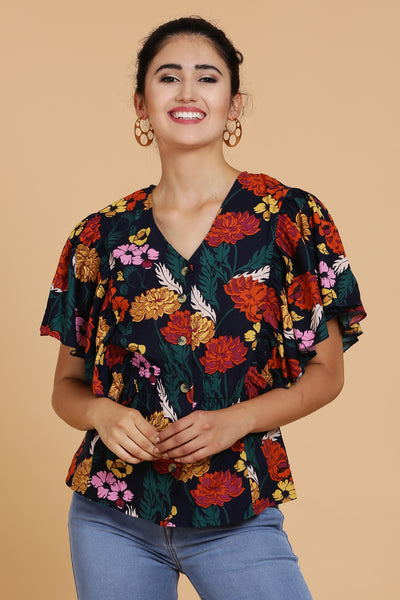 Blossom Floral Printed Cotton Top
