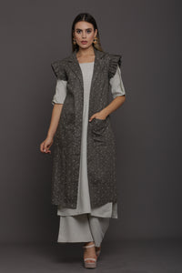 Seaweed Layered Kurta Set