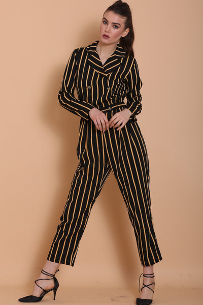 Black and Yellow Stripes Jumpsuit
