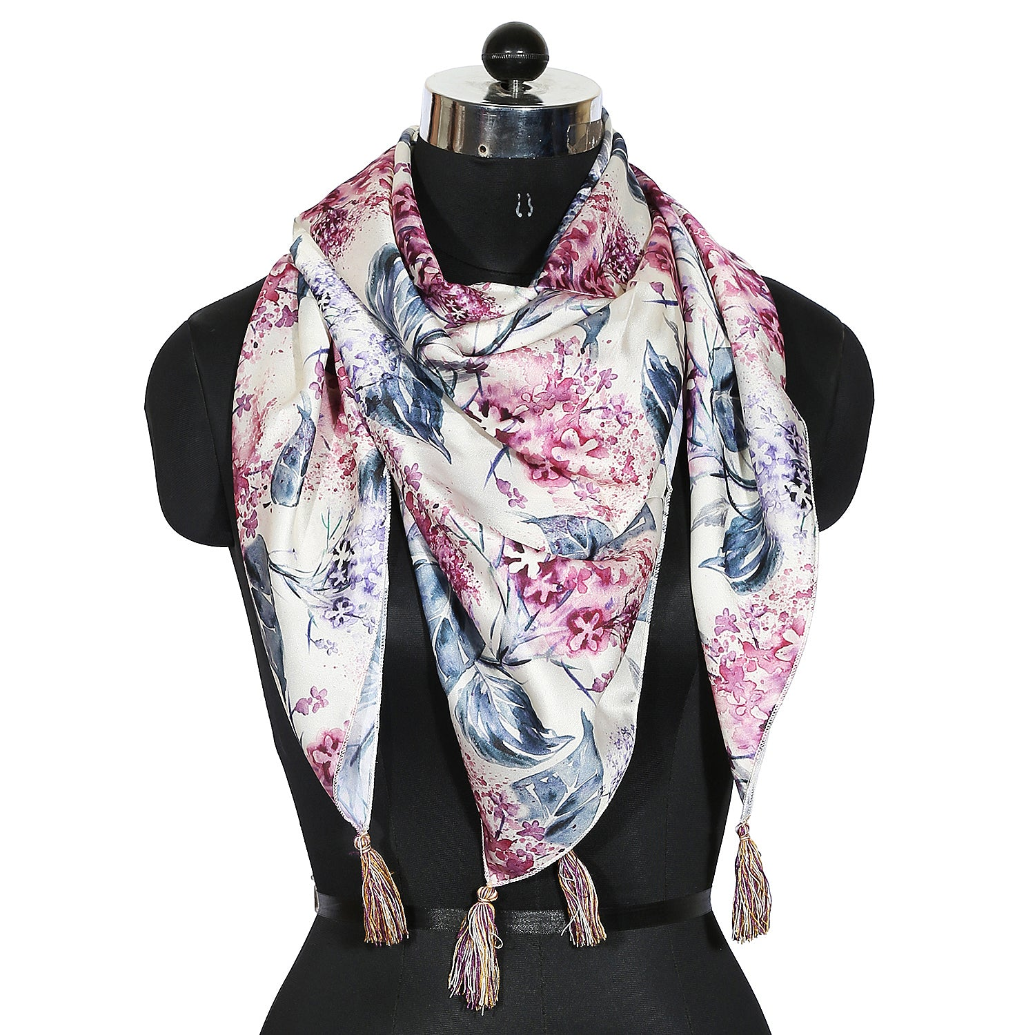 Yellow Blossom Print Scarf