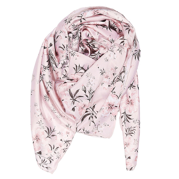 Pink Tropical Print Stole
