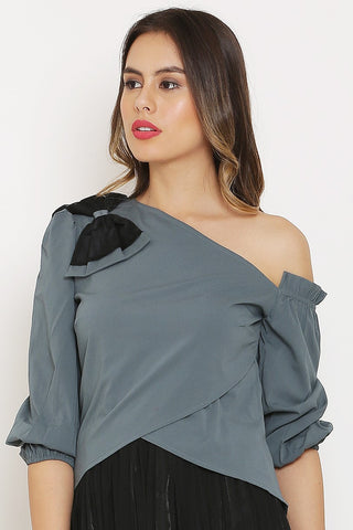 Grey Bow Top