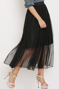 Black Sheer Skirt