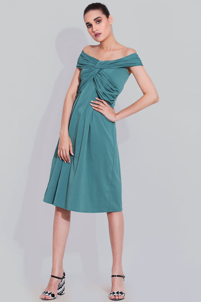 Fern cross midi dress
