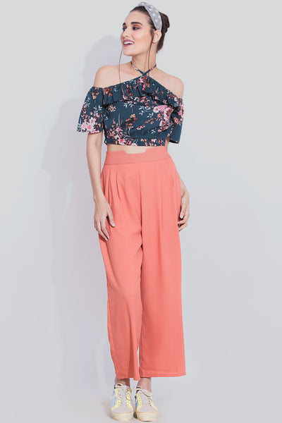 Halter Neck Crop Top For Girls - Sewandyou.com
