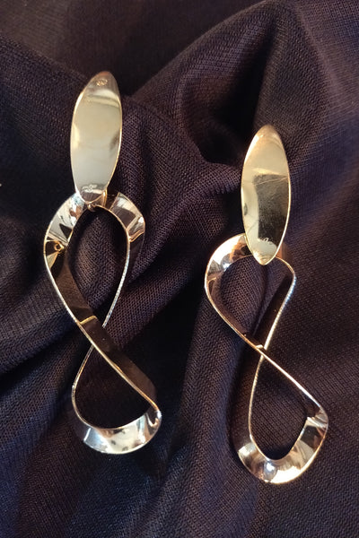 Gold Infinity Drop Earrings