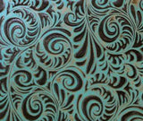 SmarTack Face - Turquoise Western Scroll