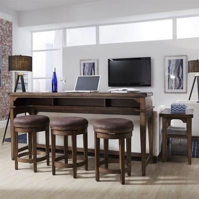 Aspen Skies 4-Piece Console Table and Stools Set