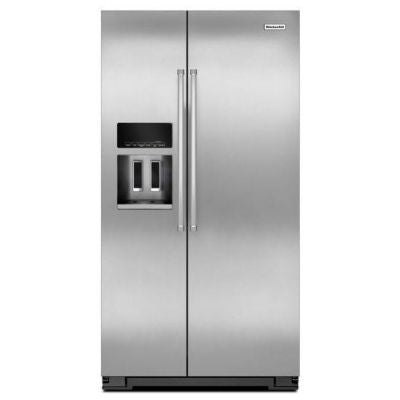 KitchenAid Counter Depth Side-by-Side Refrigerator with Exterior Ice & Water Dispenser