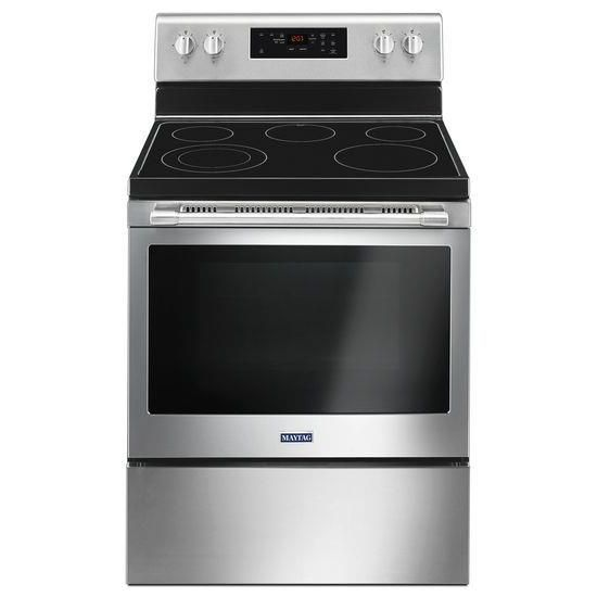 "Maytag 30"" Wide Electric Range With Shatter-Resistant Cooktop - 5.3 Cu. Ft."