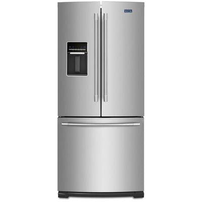"Maytag 30"" Wide French Door Refrigerator with Exterior Water Dispenser- 20 Cu. Ft."