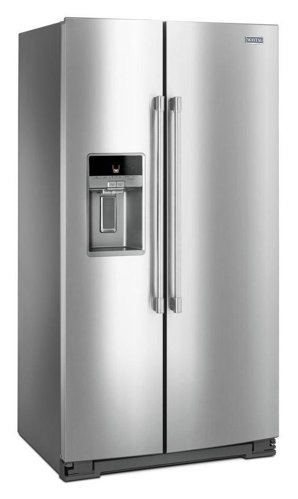 "Maytag 36"" Wide Counter Depth Side-by-Side Refrigerator- 21 Cu. Ft."