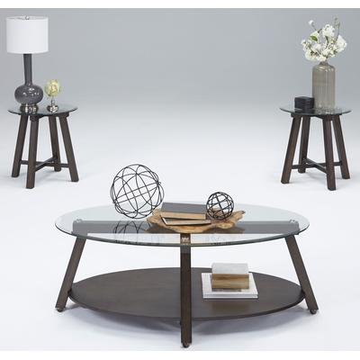 Royden Cocktail Table with Casters and 2 End Tables