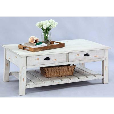 Willow Rectangular Cocktail Table - Distressed White