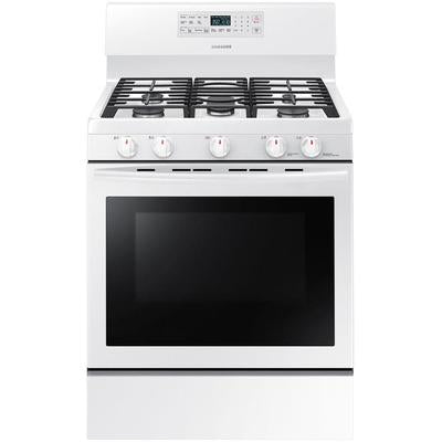 Samsung 5.8 Cu Ft Gas Range; Griddle; Powerful Cooktop; Grate Indicator Marks