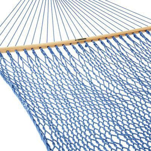 Presidential Size Original DuraCord Rope Hammock - Coastal Blue