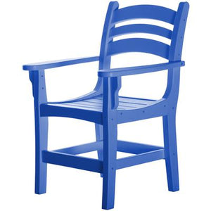 Casual Dining Chair with Arms - Blue