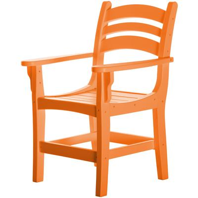 Casual Dining Chair with Arms - Orange