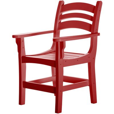 Casual Dining Chair with Arms - Red