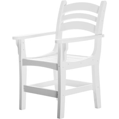 Casual Dining Chair with Arms - White