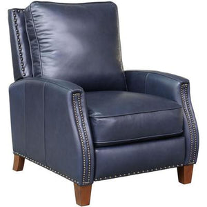 Melrose Recliner in Leather - Shoreham Blue