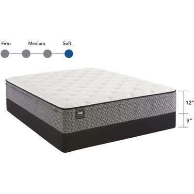 "Response Essentials 12"" Queen Rio Blanco Plush Euro Top Mattress with 9"" High Profile Foundation Set"