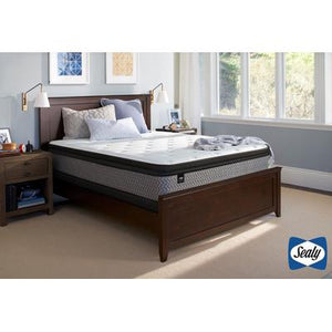 Response Essentials Twin Rio Blanco Plush Pillowtop Mattress with High Foundation