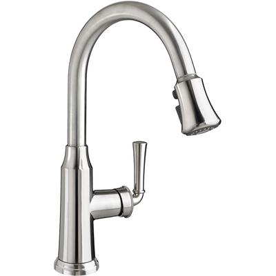 Portsmouth 1-Handle Pull Down High-Arc Kitchen Faucet - Stainless Steel